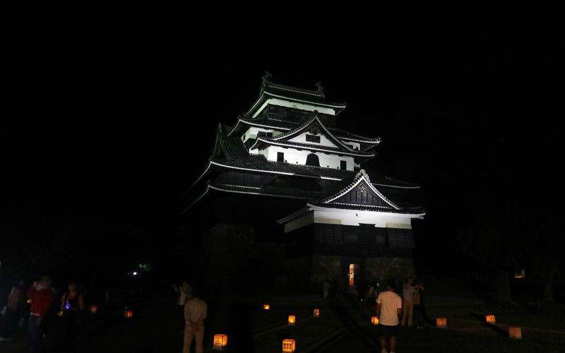 松江城ライトアップ
