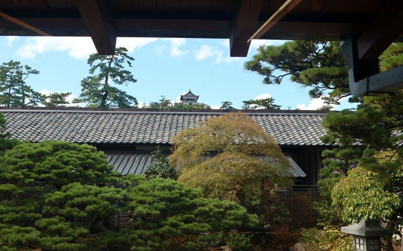 庭園と松江城