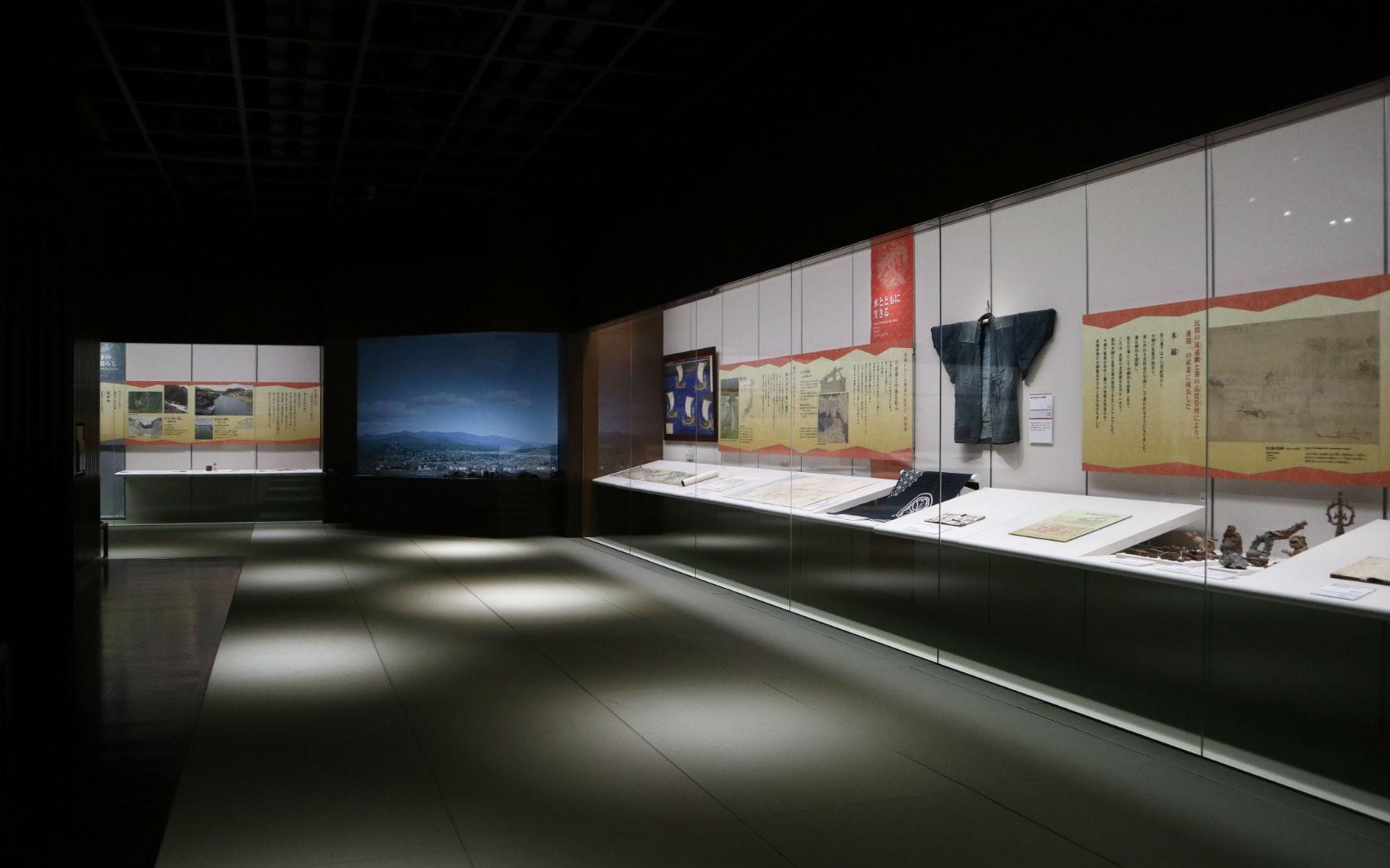 松江の産業や食に関する展示