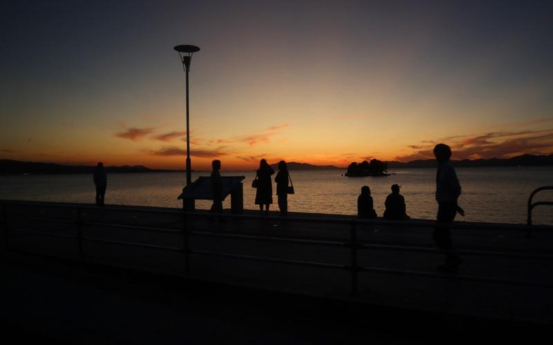 夕日公園の夕日