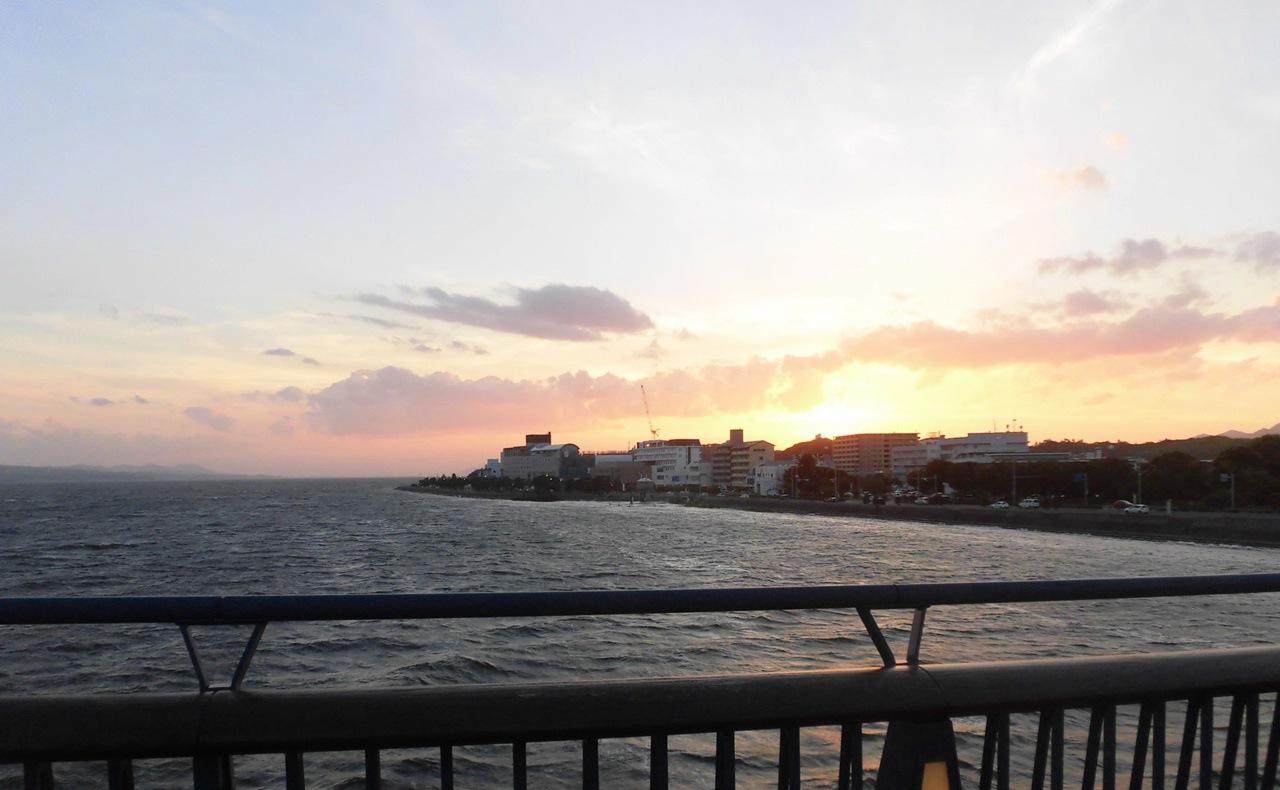 宍道湖大橋の夕日