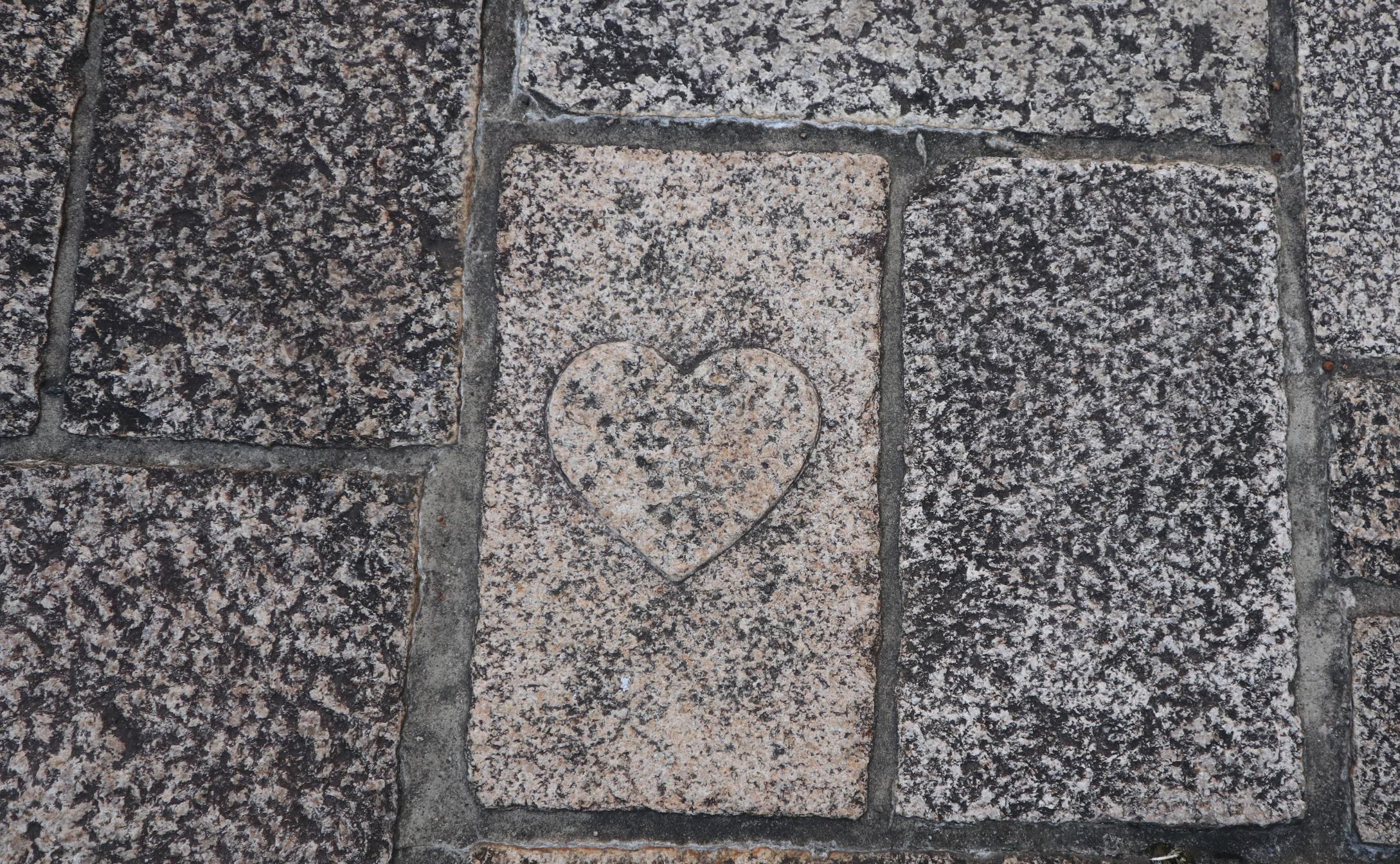 ハート型の石畳